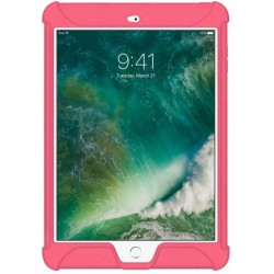 Amzer - AMZ202279 - Amzer Silicone Skin Jelly Case for Apple iPad 9.7 Baby Pink - iPad (2017) - Baby Pink - Textured - Silicone