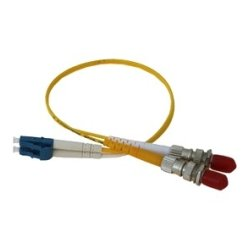 Comtrol - 1200056 - Comtrol LC-ST Fiber Adapter Cable Single-Mode - Fiber Optic for Network Device, Power Over Ethernet Splitter - 1 ft - 2 x LC Male Network - 2 x ST Female Network - 9/125 m - Yellow