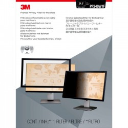3M - PF324W - 3M PF324W Framed Privacy Filter for Widescreen Desktop LCD/CRT Monitor - For 24Monitor