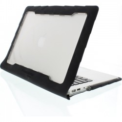Gumdrop Cases - DT-MBA13-BLK_SM - Gumdrop DropTech Apple MacBook Air 13 Case - MacBook Air - Black, Smoke - Polycarbonate, Silicone - 36 Drop Height