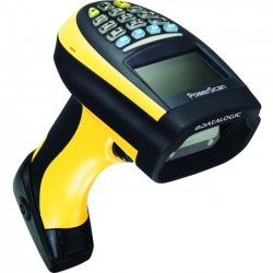 Datalogic - PM9300-DK433RB - Datalogic PowerScan PM9300-DK Handheld Barcode Scanner - Wireless Connectivity - 104 scan/s1D - Laser - , Radio Frequency - Yellow, Black
