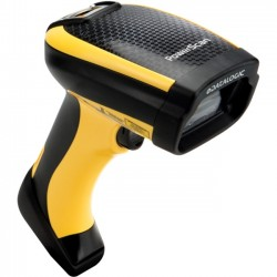 Datalogic - PM9300-AR433RBK10 - Datalogic PowerScan PM9300 Handheld Barcode Scanner - Wireless Connectivity - 35 scan/s1D - Laser - , Radio Frequency - Yellow, Black