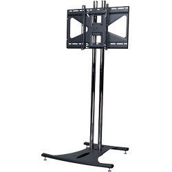 Premier Mounts - EB72-MS2 - Premier Mounts EB72-MS2 Display Stand - Up to 63 Screen Support - 160 lb Load Capacity - 74 Height - Floor - Metal - Black, Polished Chrome