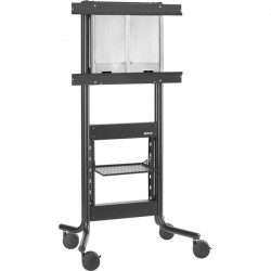 Avteq - RPS-500-70 - Avteq DynamiQ RPS-500 - Up to 70 Screen Support - 145 lb Load Capacity - 1 x Shelf(ves) - 74 Height x 40 Width x 30 Depth - Floor - Steel - Black