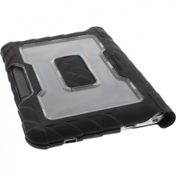 Gumdrop Cases - DT-LN23-BLK_SM - Gumdrop DropTech Lenovo N23 Case - Chromebook - Transparent, Black, Smoke - Polycarbonate, Acrylonitrile Butadiene Styrene (ABS), Silicone, Rubber
