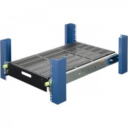Rack Solution - 115-4044 - Rack Solutions Extra Heavy Duty Sliding Shelf (500 lbs) - 4U Wide Rack-mountable for Server - Black Powder Coat - 500 lb x Maximum Weight Capacity