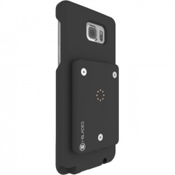i-BLADES - SCB1230067 - i-BLADES GALAXY NOTE 5 Case: SmartCase + Enviro Sensor + SmartBlade - Smartphone - Matte Black - Smooth, Rubberized - Polycarbonate - 48 Drop Height