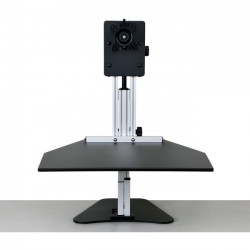 Ergo Desktop - ED-KP-BLK-FA - Ergo Desktop Kangaroo Pro Sit and Stand Workstation, Black, Fully Assembled - 15 lb Load Capacity - 16.5 Height x 24 Width - Solid Steel - Black