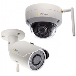 Q-See - QCW3MPEN16-2 - Q-see 3MP Wi-Fi (1) Bullet and (1) Dome Security Camera with 2 16GB microSD Card Included (2-Pack)