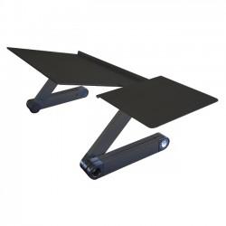 Uncaged Ergonomics - WEKTB - Uncaged Ergonomics WorkEZ Keyboard Tray - 18 Height - Desktop - Aluminum, Steel, Composite Board - Black