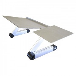 Uncaged Ergonomics - WEKTS - Uncaged Ergonomics WorkEZ Keyboard Tray - 18 Height - Desktop - Aluminum, Steel, Composite Board - Silver