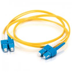 C2G (Cables To Go) - 16816 - 5m SC-SC 9/125 OS1 Duplex Singlemode PVC Fiber Optic Cable - Yellow - Fiber Optic for Network Device - SC Male - SC Male - 9/125 - Duplex Singlemode - OS1 - 5m - Yellow