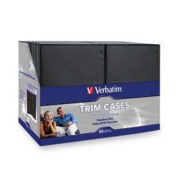 "Verbatim / Smartdisk - 95094 - Verbatim CD/DVD Black Video Trimcases - 50pk - 7.5"" Height x 5.3"" Width x 0.3"" Depth"
