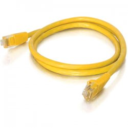 C2G (Cables To Go) - 22105 - 1ft Cat5e Snagless Unshielded (UTP) Network Patch Cable - Yellow - Category 5e for Network Device - RJ-45 Male - RJ-45 Male - 1ft - Yellow
