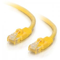 C2G (Cables To Go) - 22142 - C2G-50ft Cat5e Snagless Unshielded (UTP) Network Patch Cable - Yellow - Category 5e for Network Device - RJ-45 Male - RJ-45 Male - 50ft - Yellow