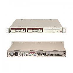 Supermicro - SYS-5014C-T - Supermicro SuperServer 5014C-T Barebone System - Intel E7221 - Pentium 4, Celeron - 4GB Memory Support - CD-Reader (CD-ROM) - Gigabit Ethernet - 1U