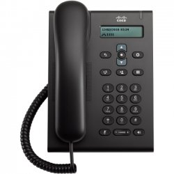 Cisco - CP-3905= - Cisco 3905 IP Phone - Cable - Wall Mountable, Desktop - Charcoal - 1 x Total Line - VoIP - Speakerphone - 2 x Network (RJ-45) - PoE Ports - Monochrome