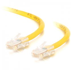 C2G (Cables To Go) - 25623 - C2G-1ft Cat5e Non-Booted Unshielded (UTP) Network Patch Cable - Yellow - Category 5e for Network Device - RJ-45 Male - RJ-45 Male - 1ft - Yellow