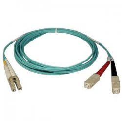 Tripp Lite - N816-03M - Tripp Lite 3M 10Gb Duplex Multimode 50/125 OM3 LSZH Fiber Optic Patch Cable LC/SC Aqua 10' 10ft 3 Meter - SC Male - LC Male - 9.84ft