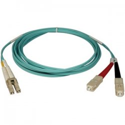 Tripp Lite - N816-15M - Tripp Lite 15M 10Gb Duplex Multimode 50/125 OM3 LSZH Fiber Optic Patch Cable LC/SC Aqua 50' 50ft 15 Meter - SC Male - LC Male - 49.21ft