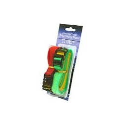 C2G (Cables To Go) - 29856 - C2G 11in Hook-and-Loop Cable Management Straps - Bright Multi-Color - 12pk - Yellow, Luminous Green, Red