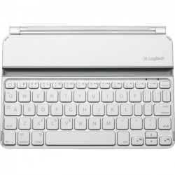 Logitech - 920-005106 - Logitech Ultrathin Keyboard Mini - Wireless Connectivity - Bluetooth - Compatible with Tablet - Membrane - White