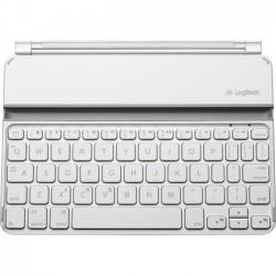 Logitech - 920-005106 - Logitech Ultrathin Keyboard Mini - Wireless Connectivity - Bluetooth - Compatible with Tablet - Membrane - White