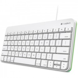 Logitech - 920-005845 - Logitech Wired Keyboard for iPad - Cable Connectivity - Lightning Interface - Compatible with Tablet (iOS) - QWERTY Keys Layout - Scissors - White, Green