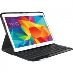 Logitech - 920-007985 - Logitech Type - S Keyboard/Cover Case (Folio) for Tablet - Black - Water Resistant - Polyurethane Leather - 7.3 Height x 10.1 Width x 0.8 Depth