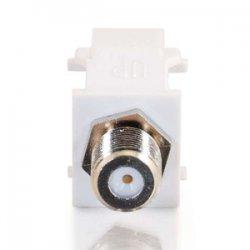 C2G (Cables To Go) / Legrand - 03824 - C2G Snap-In F-Type F/F Keystone Insert Module - White - F Connector