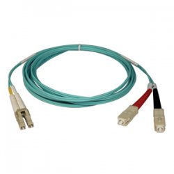 Tripp Lite - N816-05M - Tripp Lite 5M 10Gb Duplex Multimode 50/125 OM3 LSZH Fiber Optic Patch Cable LC/SC Aqua 16' 16ft 5 Meter - SC Male - LC Male - 16.4ft - Aqua Blue