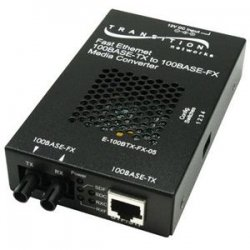 Transition Networks - E-100BTX-FX-05(SM)-LA - Transition Networks Stand-Alone Media Converter - 1 x RJ-45 , 1 x SC Duplex - 100Base-TX, 100Base-FX