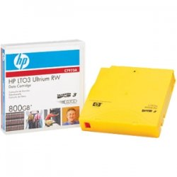Hewlett Packard (HP) - C7973AJ - HP LTO Ultrium 3 Data Cartridge - LTO-3 - 400 GB (Native) / 800 GB (Compressed) - 2230.97 ft Tape Length - 20 Pack