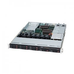 Supermicro - SYS-1026T-URF4+ - Supermicro SuperServer 1026T-URF4+ Barebone System - 1U Rack-mountable - Intel 5520 Chipset - Socket B LGA-1366 - 2 x Processor Support - 192 GB DDR3 SDRAM DDR3-1333/PC3-10600 Maximum RAM Support - Serial Attached SCSI (SAS)