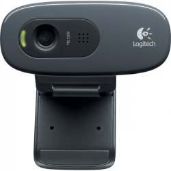 Logitech - 960-000694 - Logitech C270 Webcam - Black - USB 2.0 - 1 Pack(s) - 3 Megapixel Interpolated - 1280 x 720 Video - Widescreen - Microphone