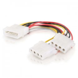 C2G (Cables To Go) - 20413 - C2G 14in One 5-1/4in to Two 5-1/4in Internal Power Y-Cable - 14""