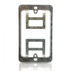 C2G (Cables To Go) / Legrand - 03785 - C2G Double Gang Wall Plate Mounting Bracket - Silver