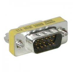 C2G (Cables To Go) - 19942 - C2G HD15 VGA M/F Mini Port Saver Adapter - 1 x HD-15 Male - 1 x DB-15 Female - Silver, Yellow
