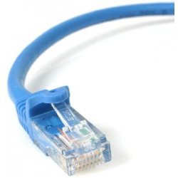StarTech - RJ45PATCH3 - StarTech.com 3 ft Blue Snagless Cat5e UTP Patch Cable - Category 5e - 3 ft - 1 x RJ-45 Male - 1 x RJ-45 Male - Blue
