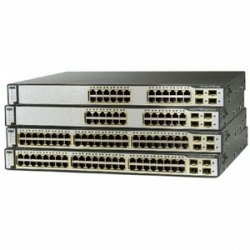 Cisco - WS-C3750G-24PSE-RF - Cisco Catalyst 3750 24-Port Multi-Layer Ethernet Switch with PoE - 24 x 10/100/1000Base-T, 2 x
