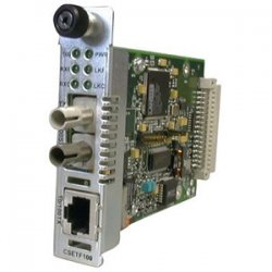 Transition Networks - CSETF1011-205 - Transition Networks Point System CSETF1011-205 Media Converter - 1 x RJ-45 , 1 x ST Duplex - 10/100Base-TX, 100Base-SX