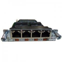 Cisco - HWIC-4B-S/T - Cisco 4-Port ISDN BRI S/T High-Speed WAN Interface Card - 4 x ISDN BRI (S/T)