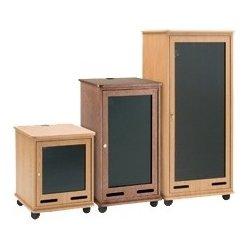 Da-Lite - 98219CHL - Da-Lite Equipment Rack Cart 12 Rack Spaces - 12U Wide for A/V Equipment - Cherry
