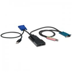 Avocent - AMIQDM-USB - Avocent KVM Cable Adapter - HD-15, Type A USB, Audio, Serial, RJ-45 Female