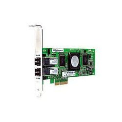 Hewlett Packard (HP) - AE312A - HP StorageWorks FC1242SR Dual Channel Fibre Channel Host Bus Adapter - 2 x LC - PCI Express - 4Gbps