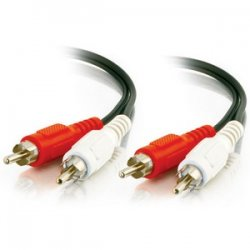 C2G (Cables To Go) - 40468 - C2G 6ft Value Series RCA Stereo Audio Extension Cable - RCA Male - RCA Female - 6ft - Black, Yellow