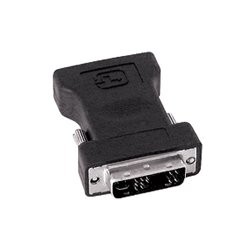 SIIG - CB-000061-S1 - SIIG DVI to VGA Adapter - 1 x DVI-A Male Video - 1 x HD-15 Female - Black