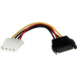 StarTech - LP4SATAFM6IN - StarTech.com 6in SATA to LP4 Power Cable Adapter - F/M - 6