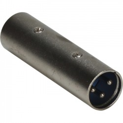 QVS - XLR-MM - QVS XLR Male to Male Audio Coupler - 1 x XLR Male Audio - 1 x XLR Male Audio