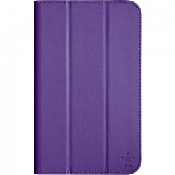 Belkin - F7P321B1C01 - Belkin Tri-Fold Carrying Case (Tri-fold) for 7 Tablet - Purple - Drop Resistant Exterior, Bump Resistant Exterior - Fabric, Polycarbonate